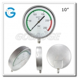 10 All stainless steel custom pressure gauges