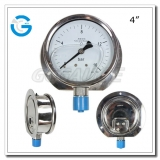 4 All stainless steel crimp ring hydraulic oil pressure gauges