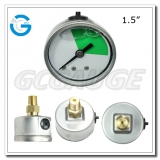 1.5 inch back liquid SS case brass internal  gauges