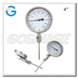 4 inch stainless steel bottom connection probe outdoor dial bimetallic thermometers