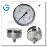4 Back entry stainless steel 0-1500bar high pressure gauges
