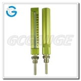 Straight V-shaped liquid industiral glass thermometers