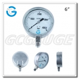 Ultra high pressure gauges 4000 bar with 6 inch dial bottom type