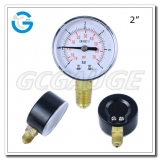 Vacuum compound pressure gauges 2 inch black steel case gauge with lower entry