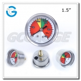 1.5 inch SS case brass internal pressure gauge for fire system